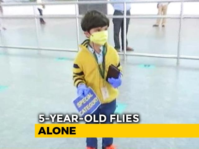 Video : 5-Year-Old Flies Home Alone, Mother At Airport, Reunion After 3 Months