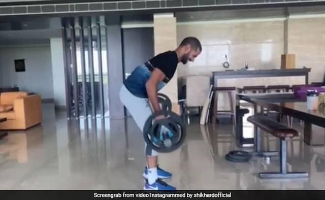 Shikhar Dhawan kept doing serious training, but son zoravar leave no stone unturned...VIDEO