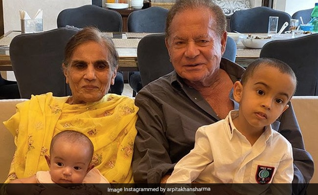 On Eid 2020, Salman's Sister Arpita Khan Sharma Shared This Adorable Pic Of Grandparents And Grandkids