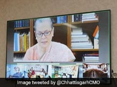Sonia Gandhi Launches Rajiv Gandhi Nyay Scheme For Chhattisgarh Farmers