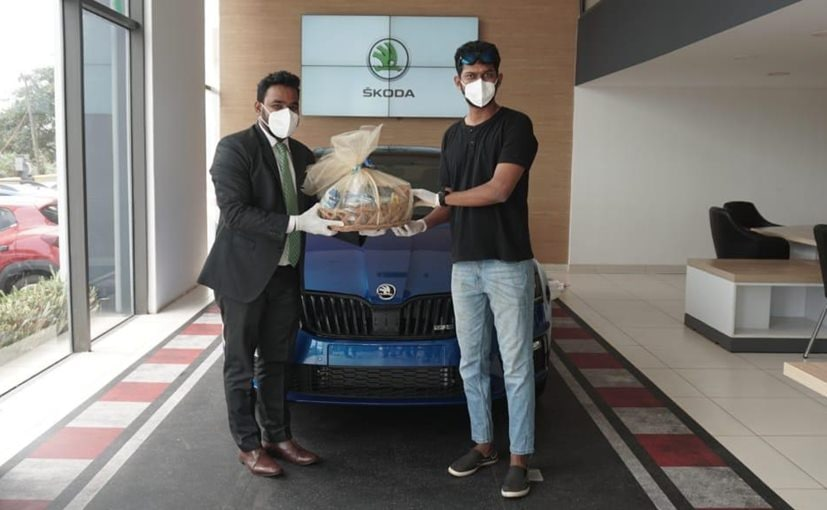India's first Skoda Octavia RS 245 customer takes delivery of his new car in Goa
