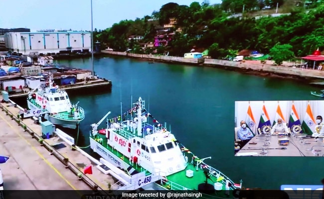 In A First, Coast Guard Ship Commissioned Via Video Call Amid Lockdown