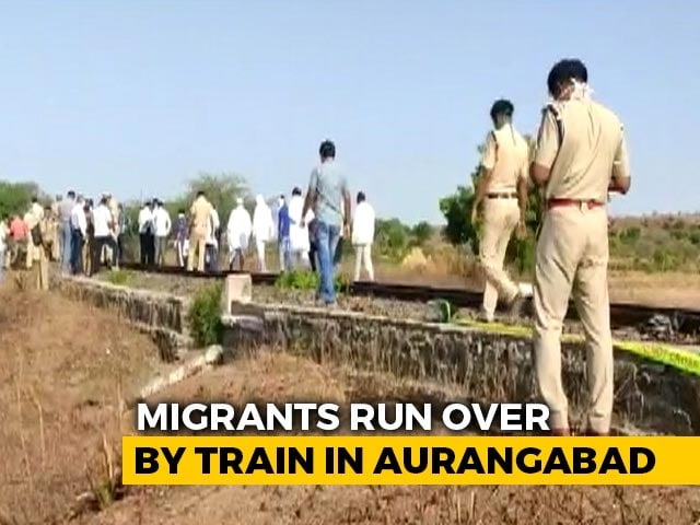 Video : Exhausted Migrants Fell Asleep On Tracks. 16 Run Over By Train