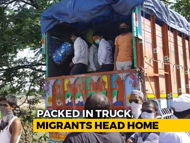 Video : Packed In Truck, Migrants Head Home From Thane To UP's Azamgarh