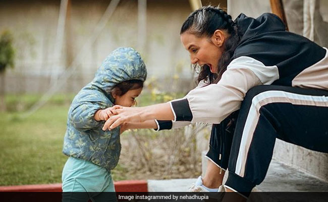 Neha Dhupia's Pic With Her 'Piece Of (He)-Art' Mehr Is Just Too Cute