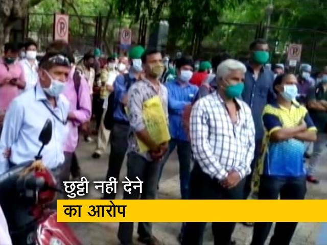 Videos : मुंबई: कोविड कर्मचारी की मौत के बाद अस्पताल के बाहर प्रदर्शन