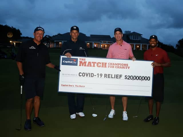 Tiger Woods-Peyton Manning Prevail In Star-Studded Match That Raised $20 Million For Charity