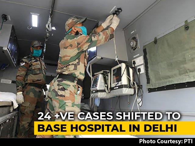Video : Military Personnel Among 24 Coronavirus Positive At Delhi Army Hospital
