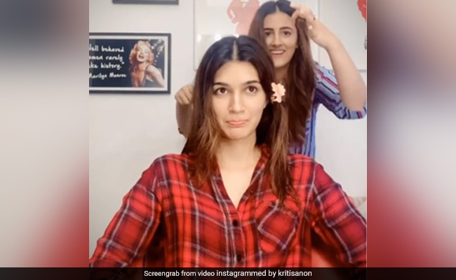 When Kriti Sanon's Sister Nupur Gave Her A Haircut At Home. So, How Did She Do?