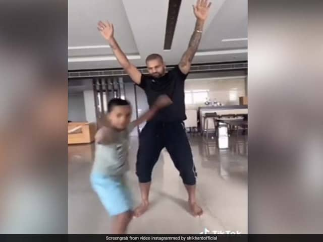 """""""Like Father, Like Son"""": Shikhar Dhawans Dance Video With Son Leaves Brian Lara In Splits. Watch"""