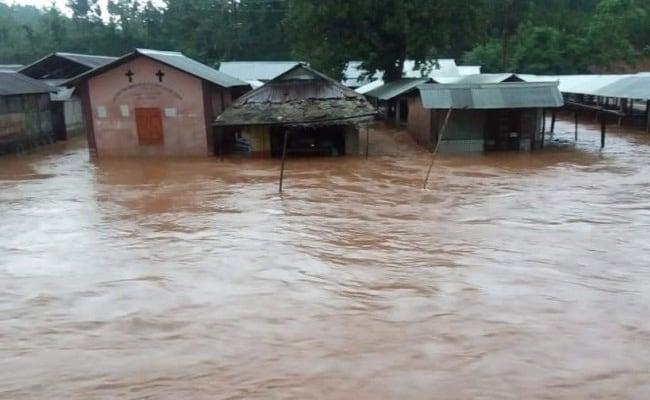 Flash Flood In Meghalaya's Garo Hills Inundate Quarantine Centre