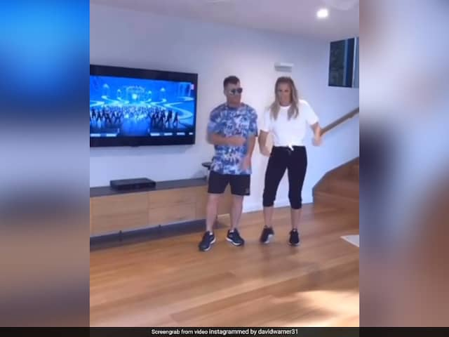 Watch: David Warner Dances To Mahesh Babus Hit Song With Wife Candice