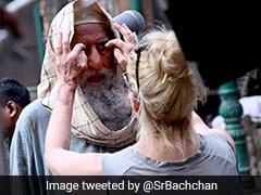 अमिताभ बच्चन ने शेयर की 'गुलाबो सिताबो' सेट की Photo, फैन्स से पूछा- आइब्रो के बीच के गैप को क्या कहते हैं