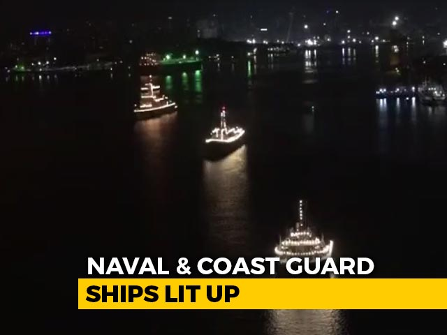 Video : Navy, Coast Guard Switch On Ceremonial Lights For Those Fighting COVID-19
