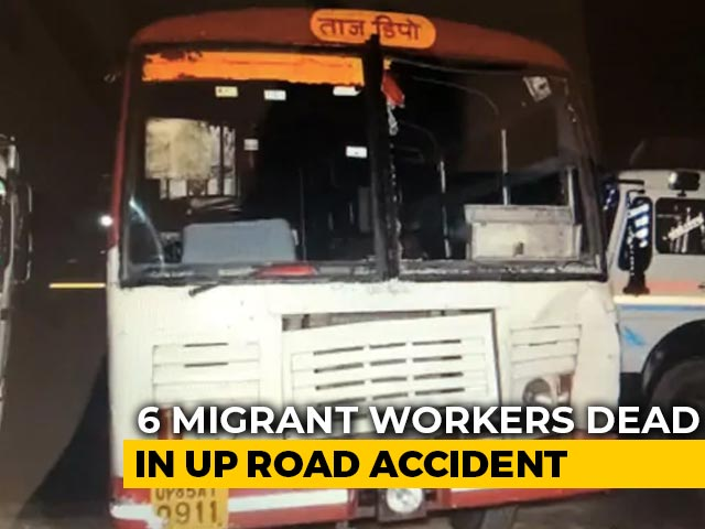 Video : 6 Migrants Workers Run Over By UP Government Bus, 2 Injured: Police