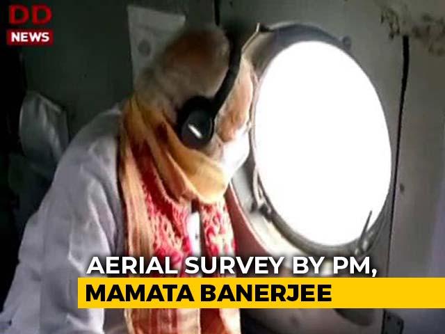 Video : PM's Aerial Survey Of Cyclone-Hit Bengal, Mamata Banerjee Present