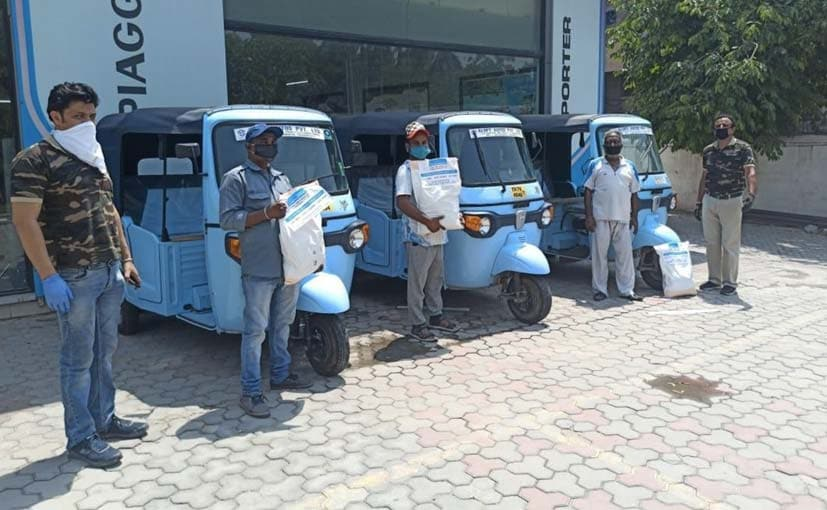 Piaggio Donates Over 11,000 Ration Kits To Auto Driver Families Affected By COVID-19