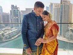 Trending: Pics From Sonalee Kulkarni And Kunal Benodekar's Engagement