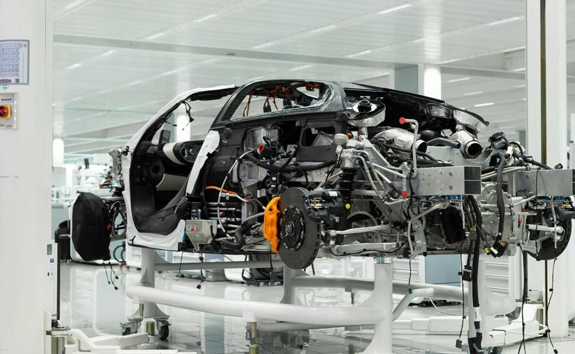 The new McLaren hybrid platform has been developed using carbon fibre to reduce the weight.