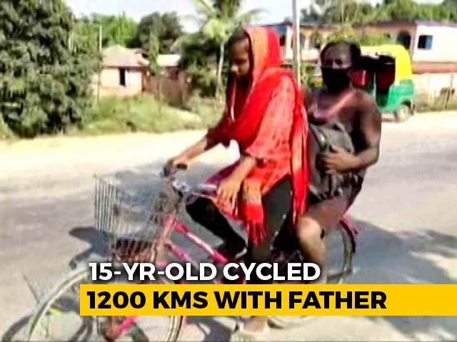 Video: Bihar Girl Cycles 1,200 Km Home With Injured Father As Pillion