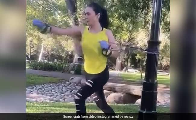 Lockdown Fitness: Preity Zinta prend la forme physique un cran plus haut avec un entraînement Jugaad avec des bandes de résistance