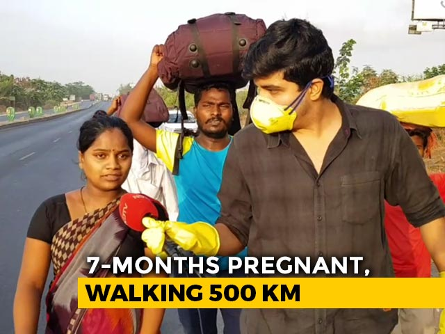 Video : In Pregnant Woman's Long Walk Home, Lockdown Plight Of Workers