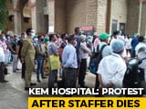 Video : Protest At Mumbai Hospital Over Death Of Staff Allegedly Denied Sick Leave
