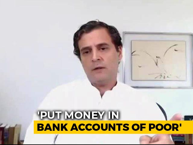 Video : PM Should Reconsider Economic Package, Give Money To Poor: Rahul Gandhi