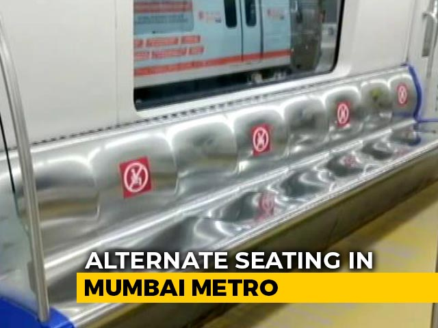 Video : Alternate Seats In Mumbai Metro Trains To Be Empty For Social Distancing