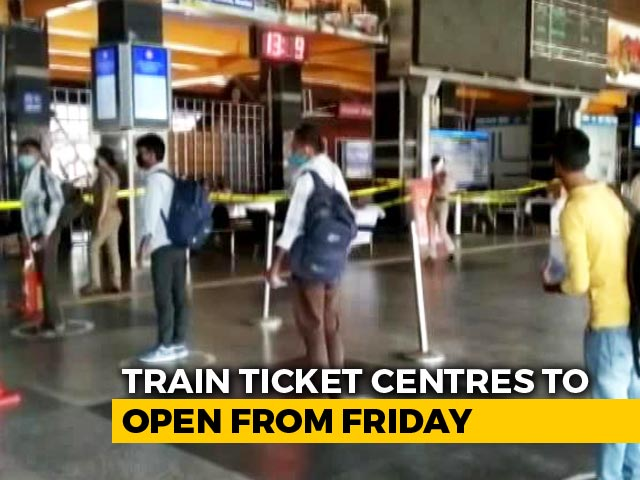 Video : Train Ticket Reservation Counters To Open At Select Railway Stations From Tomorrow