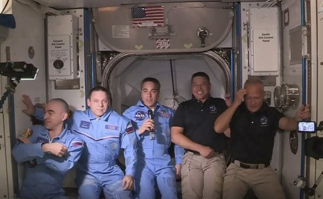 NASA Astronauts Enter International Space Station After 19-Hour Journey