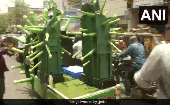 Coronavirus-Themed Robots Sanitise Chennai Streets