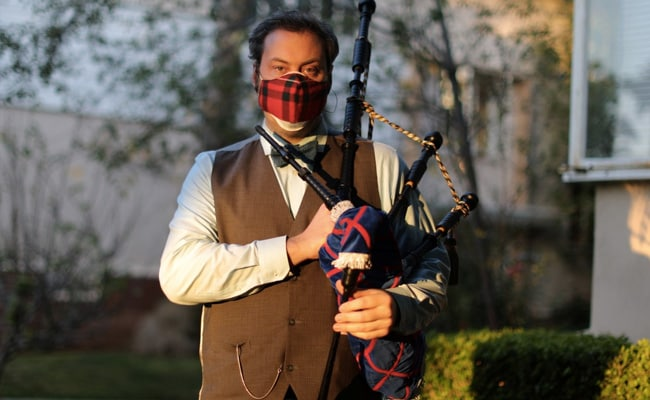 Bagpiper Plays 'Amazing Grace' Each Night To Remember COVID-19 Victims