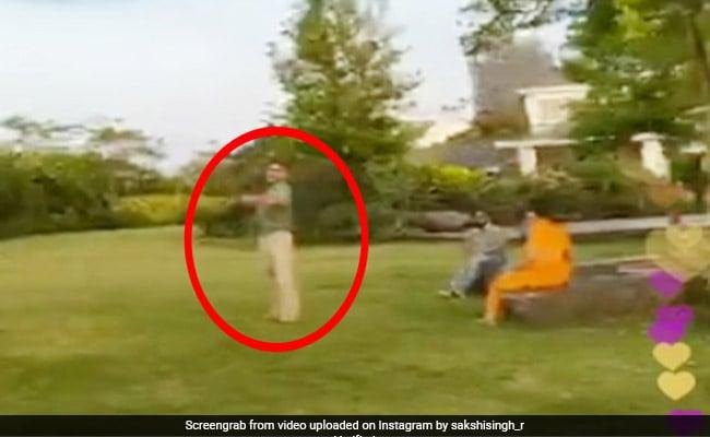 एमएस धोनी ने मस्ती-मस्ती में मारी पत्नी को गेंद, देखते ही चीखीं और बोलीं- 'ओए...' देखें Viral Video