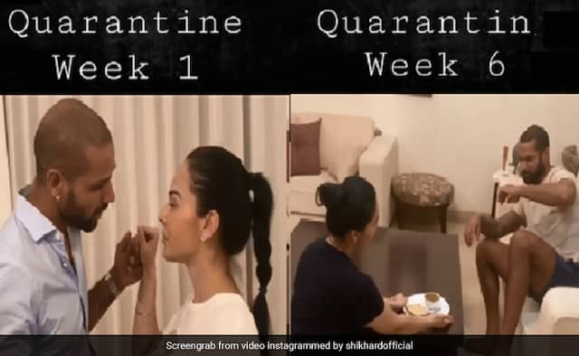 Shikhar Dhawan share quarantine funny video with wife ayesha goes viral