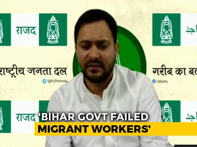Video : Bihar Government Mismanaged COVID-19 Crisis: Tejashwi Yadav To NDTV