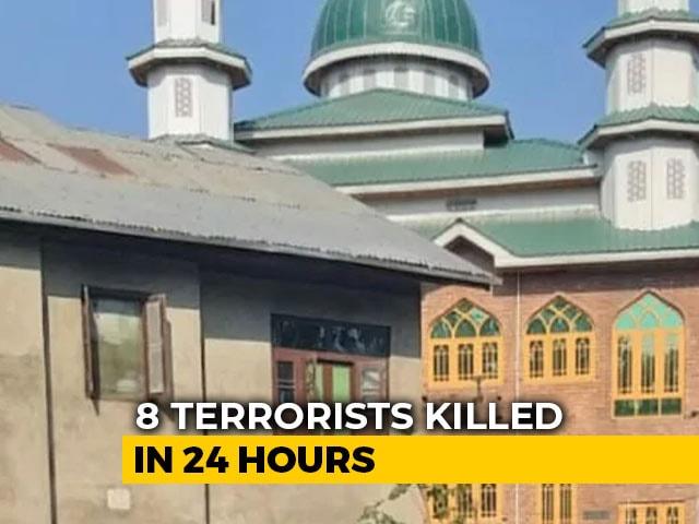 Video : Eight Terrorists Killed In 24 Hours In J&K, 2 Were Hiding In Mosque