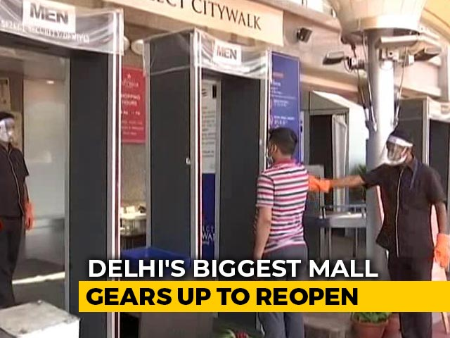 Video : How Delhi's Biggest Mall Plans To Reopen Safely Amid COVID-19
