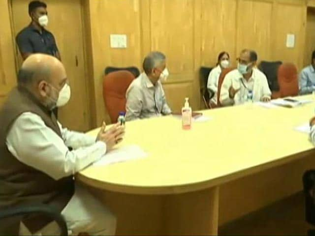Video : Amit Shah's Surprise Delhi Hospital Visit After All-Party Meet On COVID