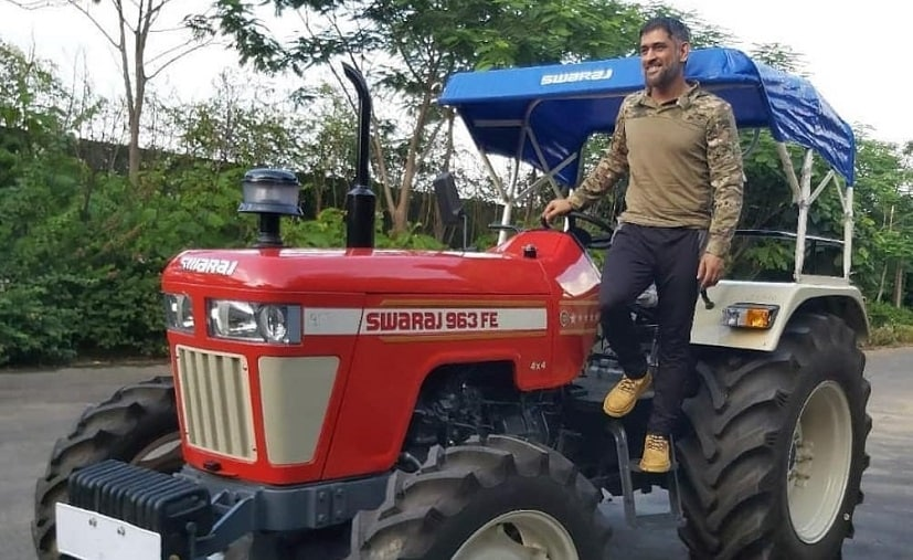 Dhoni has been trying his hands at organic farming over the last few months during the lockdown.