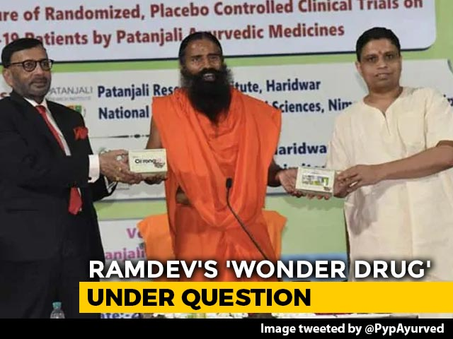 Video : Ramdev's Patanjali Asked By Government To Explain COVID Drug Claim