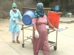 Staff At Amritsar's COVID-19 Hospital Use Stretchers To Carry Waste