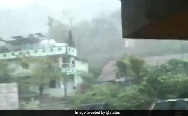 Ravi Shastri shares a glimpse of nisarga cyclone says Never experienced anything like this watch video