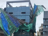Video: Temporary Structure Atop Bandra Building Collapses As Cyclone Nisarga Brings Wind, Rain