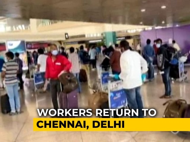 Video : Saudi Oil Firm Flies Over 1,000 Indian Workers Back Home