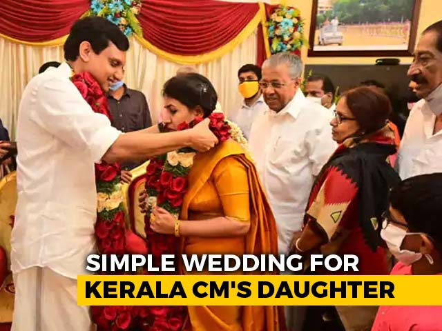 Video : Kerala Chief Minister's Daughter Weds In Simple Ceremony