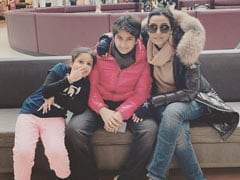 When Namrata Shirodkar Went Cycling In Germany With Son Gautham And Daughter Sitara