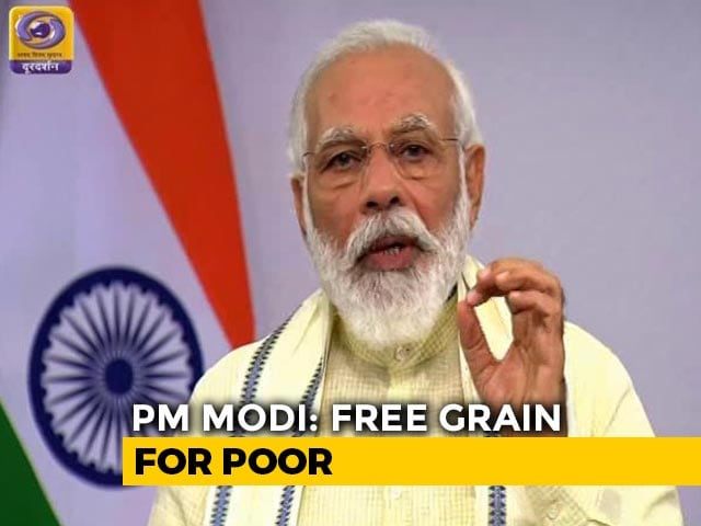Video : 80 Crore People To Get Free Food Grains Till November-End, Says PM
