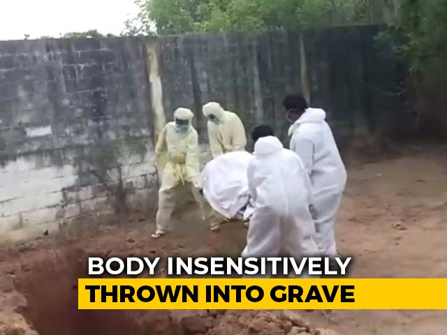 Video : Puducherry Health Workers Throw Body Of COVID Patient, Probe Ordered