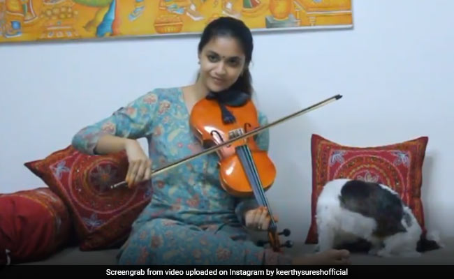 Keerthy Suresh Played Her Birthday Wish For Vijay On A Violin